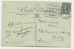 FRANCE N+ 130 CARTE DAGUIN 3EME FOIRE EXPOSITION D'ORLEANS 6.15 JUIN TIMBRE A DATE ORLEANS GARE 24.4.24 - Mechanical Postmarks (Advertisement)