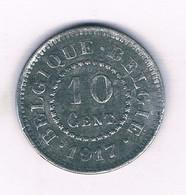 10 CENTIMES 1917  BELGIE /6419// - 04. 10 Centimes