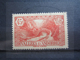 VEND TIMBRE D ' ANDORRE FRANCAIS N° 34 , NEUF AVEC CHARNIERE !!! - Unused Stamps