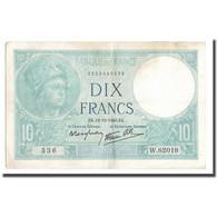 France, 10 Francs, Minerve, 1940, 1940-12-12, TTB, Fayette:7.24, KM:84 - 10 F 1916-1942 ''Minerve''