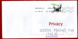 Francia France 2021 - Lettera Per Italia Letter To Italy Fauna Selvatica In Via Di Estinzione Wildlife Endangered - Storia Postale