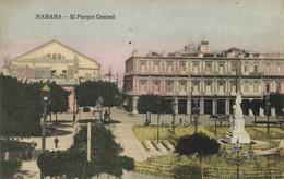 HABANA  El Parque Central Colorisée Recto Verso - Cuba