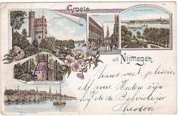 Nijmegen Oude Litho Kaart Uit 1899 SN960 - Nijmegen