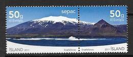 Islande 2011, N°1254/1255 Neufs Snaefellsnes SEPAC - Unused Stamps