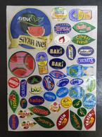 AC - FRUIT LABELS Fruit Label - STICKERS LOT #98 - Frutas Y Legumbres