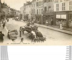 WW 88 REMIREMONT. Attelage De Boeufs Sur Grande Rue - Remiremont