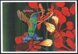 Bloc Sheet OIseaux Colibris Birds Hummingbirds Neuf MNH **  Guyana 1996 - Hummingbirds