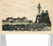 14 TROUVILLE. Le Phare à Marée Basse Et Casino - Trouville