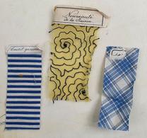 Petit Lot D'échantillons De Tissu Anciens Avec étiquette - Dentelles Et Tissus