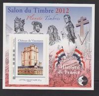 CNEP-2012-N°61** CHATEAU DE VINCENNES .Salon DU TIMBRE - CNEP