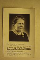 BP 1675 - DEBERGH MARIA-FELICIA - OOSTVLETEREN 24.04.1900 - IEPER 16.08.1973 - ZIE 2 FOTO'S - Devotion Images