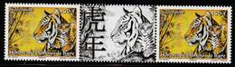 POLYNESIE - N°899 En Paire Avec Vignette ** (2010) Horoscope Chinois : Le Tigre - Ongebruikt