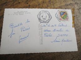 Cachet Hexagonal La Ville Es Nonais Recette Auxiliaire - 1921-1960: Modern Period