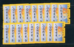 Bund Automaten Briefmarken ATM Michel Nummer 3 ( Typ 3.2) Lot Postfrisch - Automatenmarken
