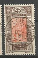 GUINEE N° 74 CACHET LABE - Oblitérés