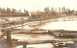 Old Speyer Postcard, Spire, Train Sur Un Pont De Bâteaux !, Carte-photo Schmid Ca 1919, Locomotive + 9 Wagons !!, Génie - Speyer