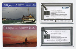 Lot De 2 Tickets Transports Istanbul 2021 Turquie Turkey Türkiye Türkei. Assez Mauvais état, Lire Description - World