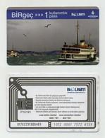 Ticket De Transport Istanbul 2021 Turquie Turkey Türkiye Türkei. Condition / état : Lire Description - World