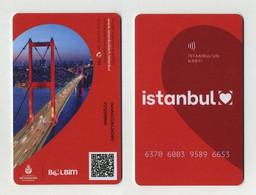 Istanbul Card 2021 - Turquie Turkey Türkiye Türkei - Pour Transports Publics : Métro, Tramway Et/ou Seabus - Welt
