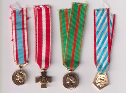 Lot De 4 Réductions De Médailles Militaires Françaises - Non Classés