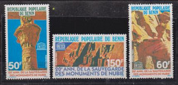 MNH ** Neuf -1980-Benin-Dahomey # Architecture (N° Mi. 203-05) Sauvegarde Monuments Nubie,Schutz Nubische Denkmäler (3) - Monuments