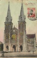 COCHINCHINE  Saigon La Cathedrale + Beau Timbre Indochine RV Beau Cachet THANH  HOA  ANNAM - Vietnam