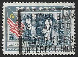 MALAISIE -Federated Malaya  1957  -  YT  80   - Récolte Du Caoutchouc - Oblitéré - Federation Of Malaya
