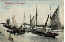 Blankenberghe Les Estacades Circulée En 1907 - Blankenberge