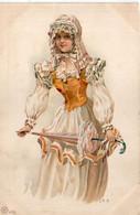 C.R.H. Femme ART NOUVEAU - Pub Hatté-Davesne - Beauvais   (8044 ASO) - Autres Illustrateurs