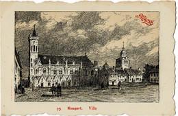 Nieuport Ville Avec Publicité Pour Maggi - Nieuwpoort