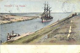 PORT SAID  Lac Timsah Trois Mats RV  Beaux Timbres 2 X 2 Beau Cachet Port Said - Port-Saïd