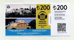 Palais De Topkapi Sans Accès Visite Du Harem. Istanbul 2021. Turquie Turkey Türkiye Türkei. Avec Talon, TBE - Eintrittskarten