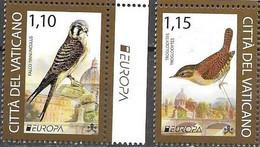 VATICAN, 2021, MNH, EUROPA, ENDANGERED WILDLIFE, BIRDS, 2v - 2021