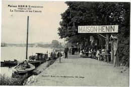 Maison Henin Kinkempois La Terrasse Et Les Canots Circulée En 1912 - Sonstige