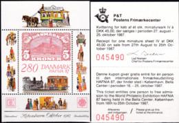 Dänemark, 1987, 900 Block 7, MNH **, HAFNIA '87, Kopenhagen - Blocks & Sheetlets