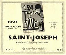 SELECTION -- ETIQUETTE DE VIN --  SAINT JOSEPH  LES 24 TOURS DE RAMBOUILLET EN 1997 - Altri