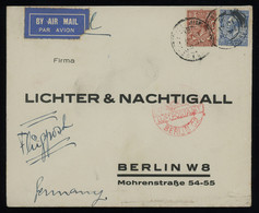 TREASURE HUNT [00003] Great Britain 1931 Air Mail Cover To Germany Bearing KGV 1 1/2d Brown + 2 1/2d Blue Definitives - Storia Postale