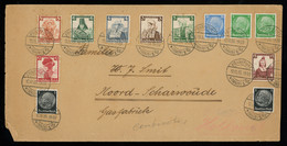 TREASURE HUNT [00047] Germany 1935 Cover To Noord Scharwoude, Netherlands Bearing Large And Colourful Franking - Lettres & Documents