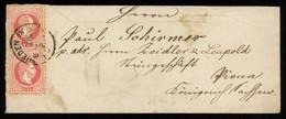 TREASURE HUNT [00070] Austria 1870s Small Cover From Wieden Bearing Two 5kr Red Tied By Wieden In Wien Oval Cancellation - Brieven En Documenten