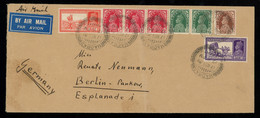 TREASURE HUNT [00082] India 1937 Air Mail Cover To Berlin Bearing Large KGVI Multicolour Franking - 1936-47  George VI