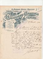 49-Distillerie Agricole...Alcools.Extra-Neutres ..Clefs.. (Maine-et-Loire)..1900 - Other