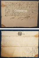 Manuscrit 1675 à étudier - Cachet Six Deniers Au Verso - Signatures Mallet Castusal (?) - Manuscripts