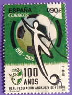 ESPAGNE SPANIEN SPAIN ESPAÑA 2015 FOOTBALL FEDERATION OF ANDALUCIA  USED ED 4950 MI 4958 YT 4663 SC 4032 SG 4941 - 2011-2020 Usados