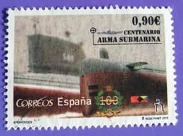 ESPAGNE SPANIEN SPAIN ESPAÑA 2015 CENT SUBAMARINE ARME ARMA SUBMARINA USED ED 4951 MI 4959 YT 4664 SC 4033 SG 4942 - 2011-2020 Usados