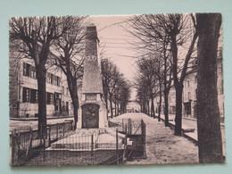 SAINT BONNET LE CHATEAU (42/Loire) - Avenue De La Promenade, Maisons , Monument Morts Grande Guerre - Andere Gemeenten