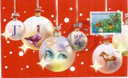 URUGUAY. Décoration De Noël - Guirlandes,Boules De Noël ... Carte-Maximum Navidad ! - Navidad