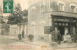 94* VILLIERS S/MARNE   Rue De Paris - «restaurant Des Sports»   RL14.1344 - Villiers Sur Marne