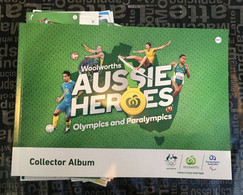(ZZ 17) Olympic  - Australian Aussie Heroes - Book And Stickers From Nº2 To Nº120 Rowing - Archery - Badminton - Golf + - Bücher