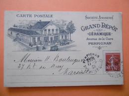 PERPIGNAN   ( 66 ) Grand Depot CERAMIQUE  - Avenue De La Gare - Perpignan