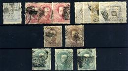 España Nº 116, 118, 122, 124, 126 Año 1872 - Gebraucht